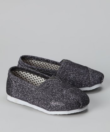 Gray Glitter Slip-On Shoe