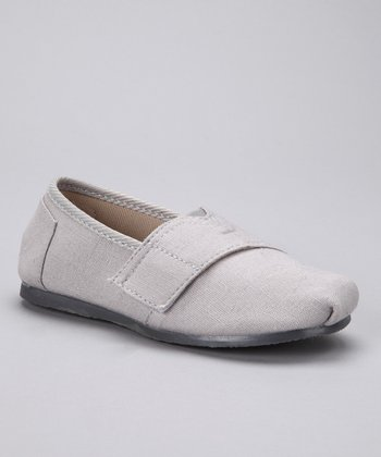 Ash Canvas Adjustable Slip-On Shoe
