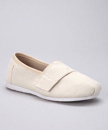 Natural Canvas Adjustable Slip-On Shoe