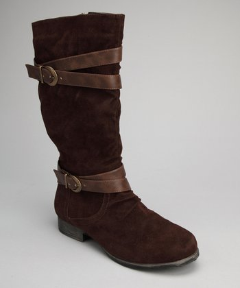 Brown Strap Boot