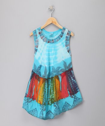 Turquoise Tropical Dress