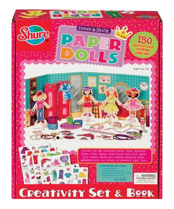 Dress & Stick Paper Doll Set