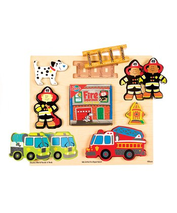 Chunky World Fire Department Puzzle Book Set