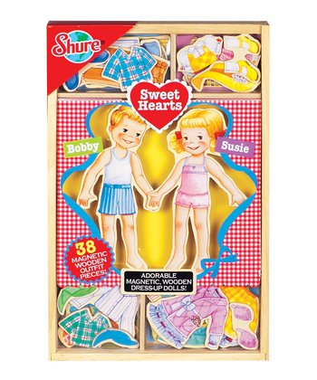 Sweethearts Wooden Magnetic Dress-Up Doll Set