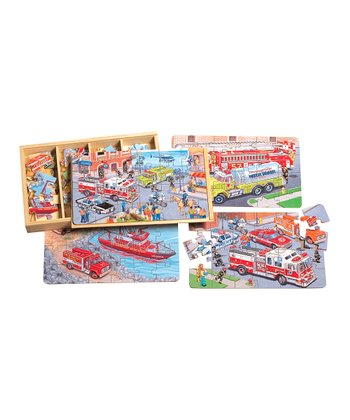 Emergency Vehicles Puzzle Set