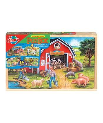 Farm Vehicles Puzzle Set