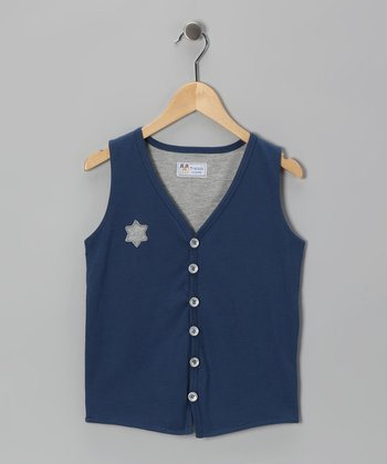 Navy Blue Sheriff Vest - Infant & Boys