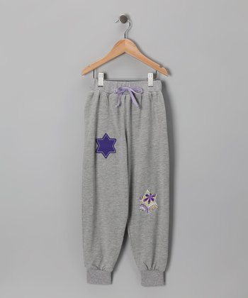 Gray Mélange Star Sweatpants - Infant, Toddler & Girls