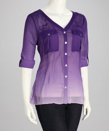 Royal Purple Ombré Top