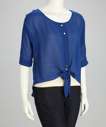 Cobalt Button-Up