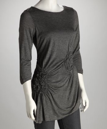 Charcoal Asymmetrical Tunic