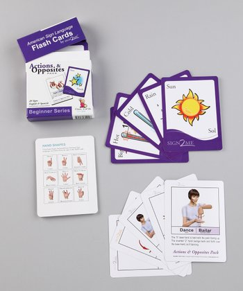 Actions & Opposites Flash Card Set