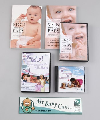 Sign2Me Clear Container Ultimate Quick Start Baby Signing Kit