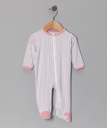 Lilac & Mocha Organic Footie - Infant