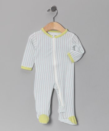 Marina & Mocha Organic Footie - Infant