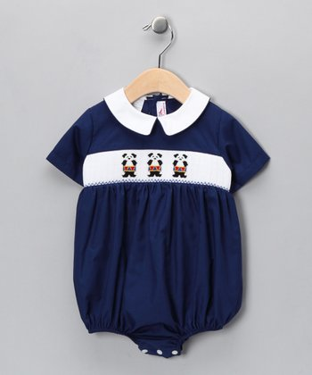 Navy Drumming Panda Bubble Bodysuit - Infant