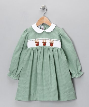Green Rudolph Dress - Infant