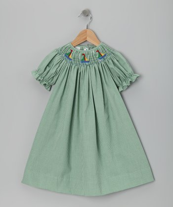 Green Sailboat Bishop Dress - Infant, Toddler & Girls