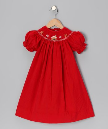Red Gingerbread Bishop Dress - Infant & Girls