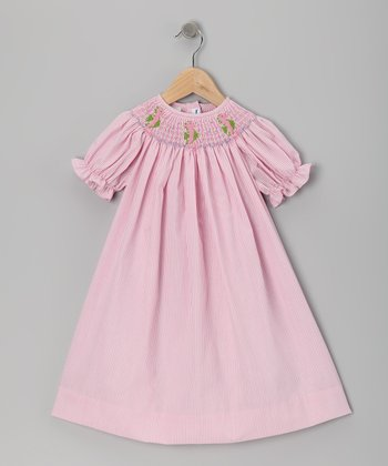 Pink Sea Horse Bishop Dress - Infant & Girls