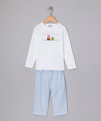 White Chimney Tee & Light Blue Pants - Infant