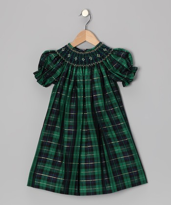 Green Caroline Bishop Dress - Infant