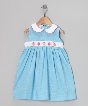 Blue Ladybug Smocked Dress - Infant, Toddler & Girls
