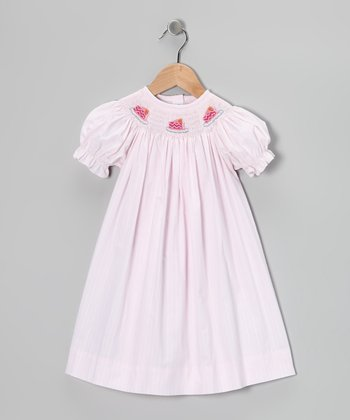 Light Pink Birthday Cake Bishop Dress - Infant & Toddler