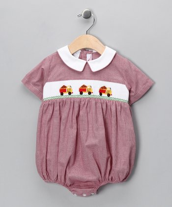 Red Truck Bubble Bodysuit - Infant