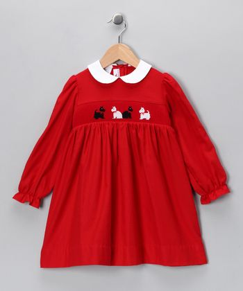 Red Scotty Dog Dress - Infant & Girls