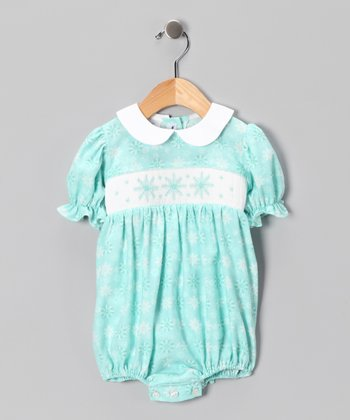 Aqua Snowflake Bubble Bodysuit - Infant