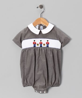 Black Toy Soldier Bubble Bodysuit - Infant