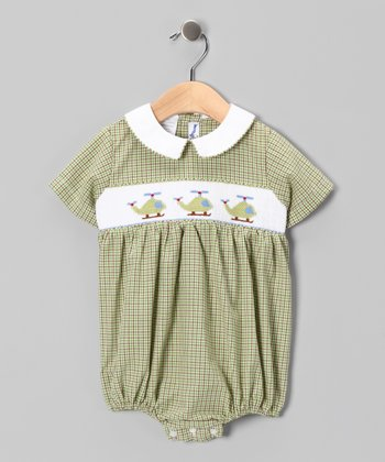 Green Helicopter Bubble Bodysuit - Infant