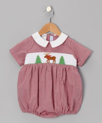 Red Moose Smocked Bubble Bodysuit - Infant