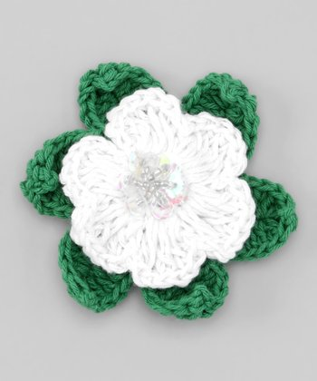 White Berry Blast Tropical Flower Pin