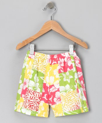 Citrus Punch Patchwork Shorts - Infant, Toddler & Girls