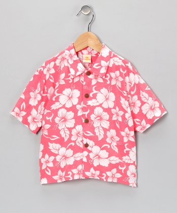 Salmon Citrus Punch Button-Up - Infant, Toddler & Boys