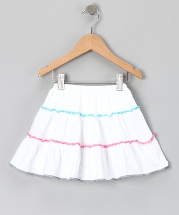 White Berry Blast Tiered Skirt - Infant, Toddler & Girls