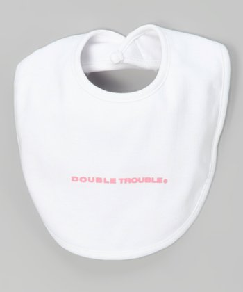White 'Double Trouble' Bib