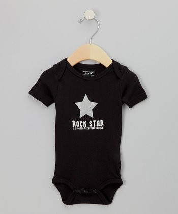 Black 'Rock Star' Bodysuit - Infant