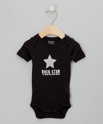 Silly Souls Black 'Rock Star' Bodysuit