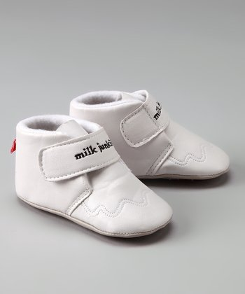 White 'Milk Junkie' Booties