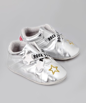 Silver 'Rock Star' Booties - Infant