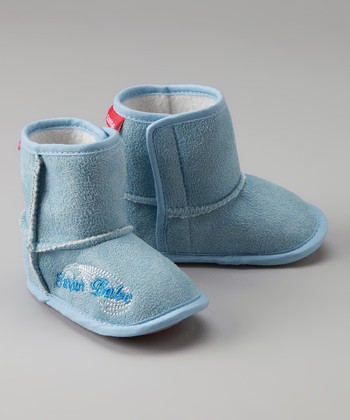 Blue 'Surfer Babe' Booties