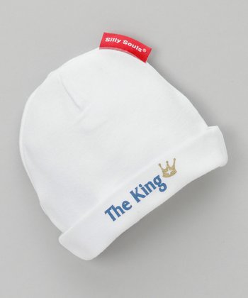 White 'The King' Beanie