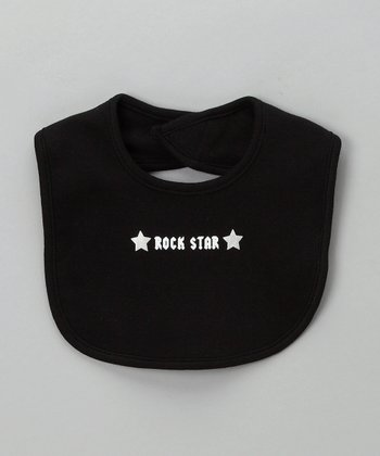 Black 'Rock Star' Bib - Infant