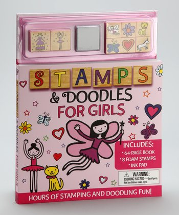 Stamps & Doodles for Girls Hardcover