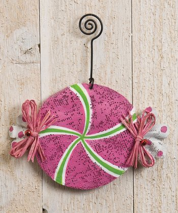 Silvestri Pink Peppermint Ornament