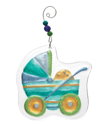 Silvestri Blue Buggy Ornament