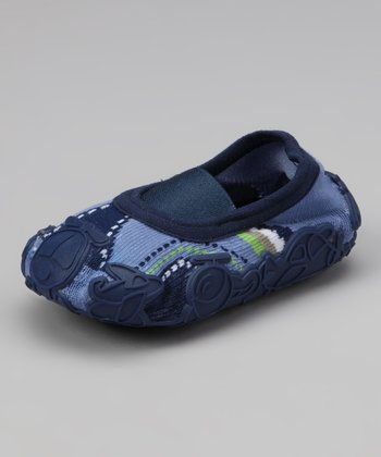 Denim Blue Tennis Baby Gripper Shoe